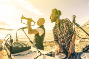 Image of DJ and Musician at Fort Lauderdale Music Festival.