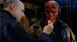Image from Hellboy (2004) cigar scene
