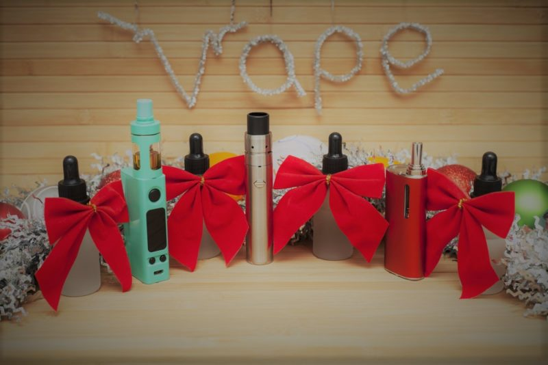 Image of Vape Pens ready to be wrapped as Christmas gifts for men.