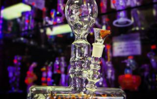 Image of Heady Glass Pipe in a Smoke Shop in Fort Lauderdale Miami.