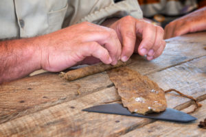 Image of cigar rolling