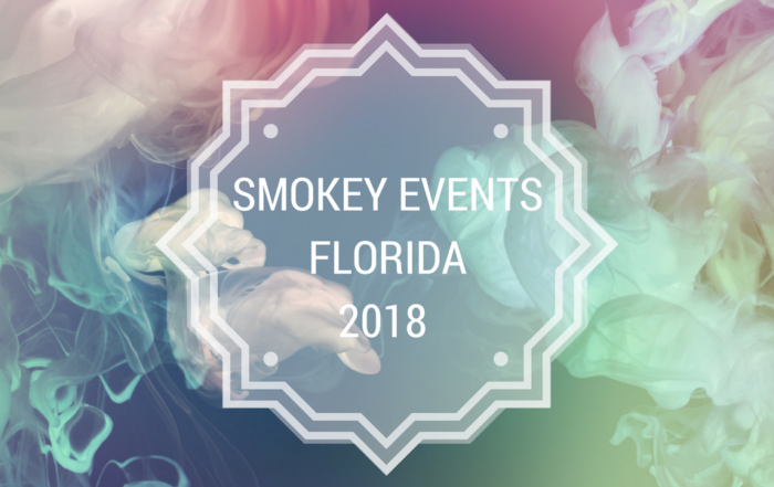 image of smoke and texture. Concept of vape and cigar events in Florida 2018